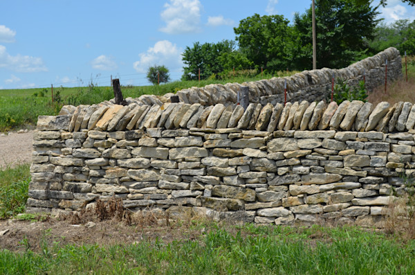 Old Stone Wall in Alma, Kansas