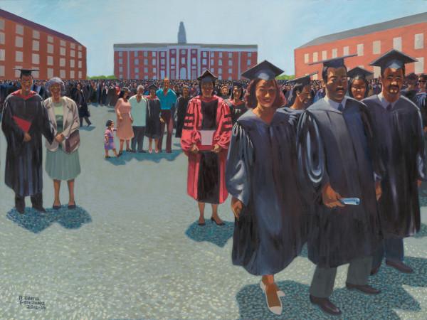 Latino, art, painting, graduation, Harvard