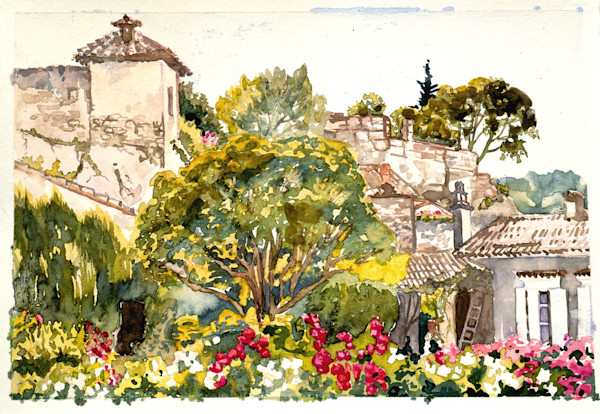 Barjol, France | Watercolor Landscapes | Gordon Meggison IV