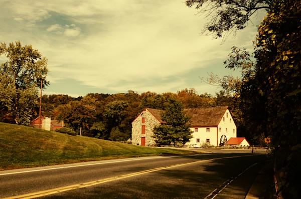 Greenbank Mill Summer Colorized Landscape Photo Wall Art by Landscape Photographer Melissa Fague