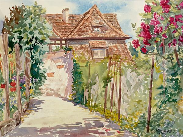 Secret Garden 2 | Watercolor Landscapes | Gordon Meggison IV