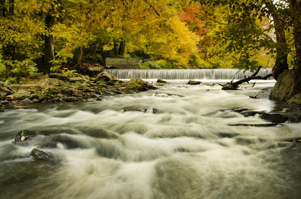Hoopes Falls in the Autumn Landscape Photo Wall Art by Landscape Photographer Melissa Fague