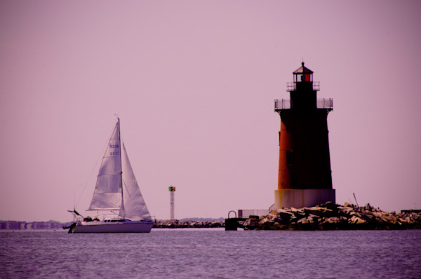 Sailing in the Bay Landscape Photo Wall Art by Landscape Photographer Melissa Fague