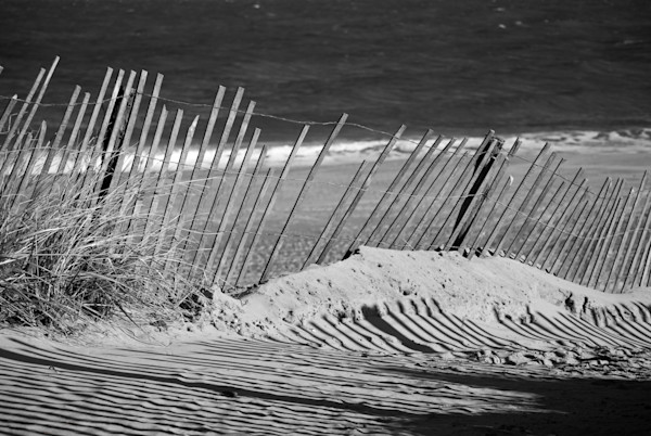 Sandy Beach Fence Landscape Photo Wall Art by Landscape Photographer Melissa Fague