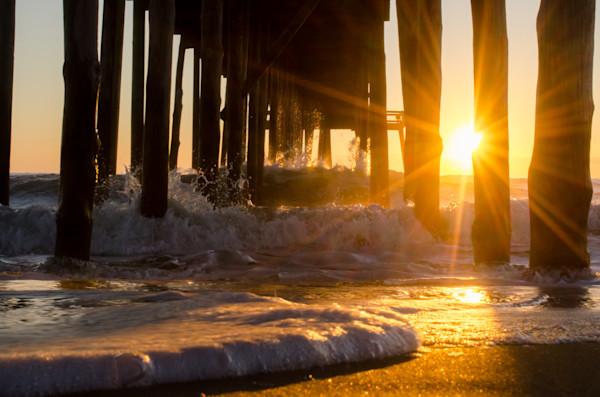 Sea Foam In The Sunlight Landscape Photo Wall Art by Landscape Photographer Melissa Fague