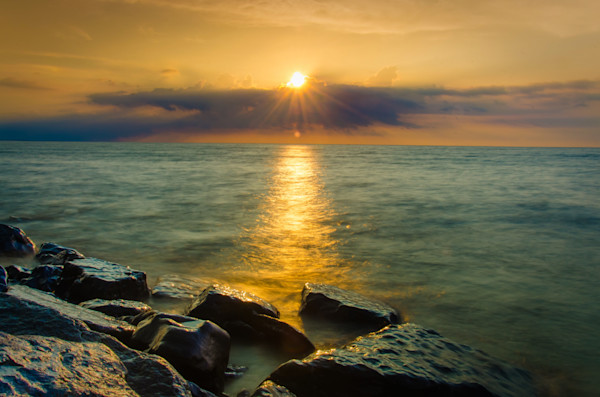 Sun Ray on Water Landscape Photo Wall Art by Landscape Photographer Melissa Fague