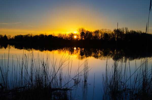 Sunrise Reedy Point Marsh Landscape Photo Wall Art by Landscape Photographer Melissa Fague