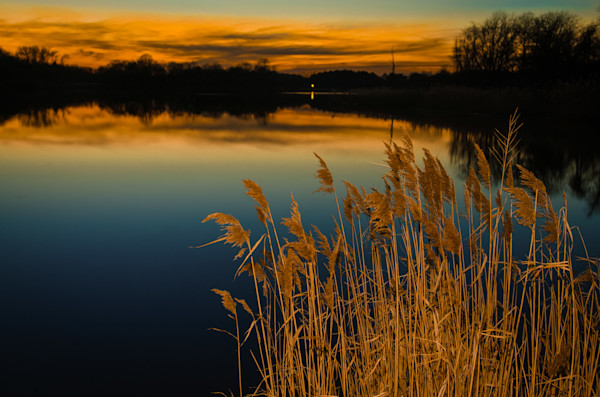 Sunset at Reedy Point Landscape Photo Wall Art by Landscape Photographer Melissa Fague