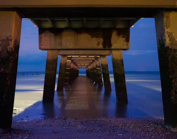 Under the Pier Landscape Photo Wall Art by Landscape Photographer Melissa Fague
