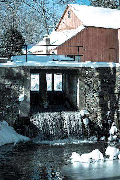 Winter Mill Landscape Photo Wall Art by Landscape Photographer Melissa Fague
