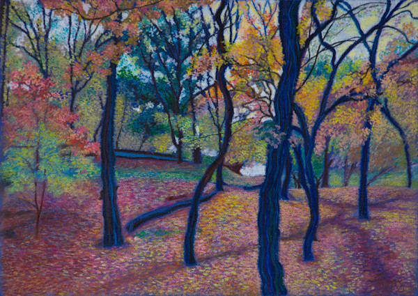 Manhattan Landscape of Isham Park Trees Art and Painting