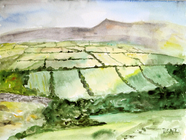 Dingle Peninsula Ireland landscape watercolor by David Beale