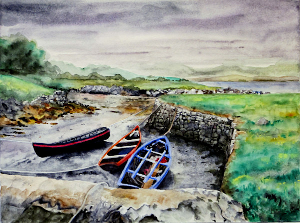currachs at low tide, western ireland