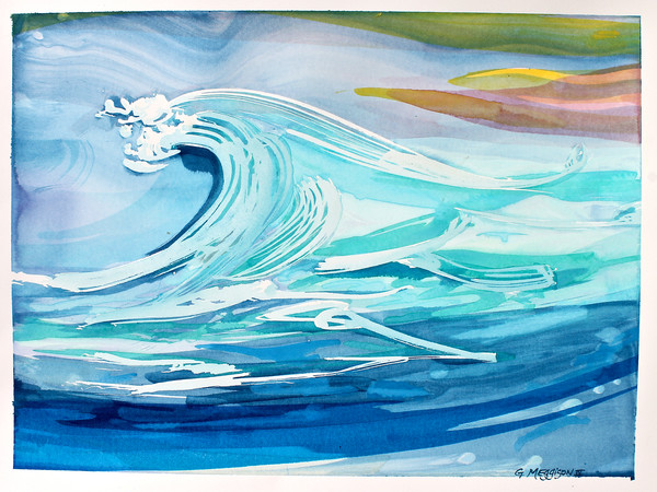 Great Wave | Contemporary Abstract Watercolors | Gordon Meggison IV