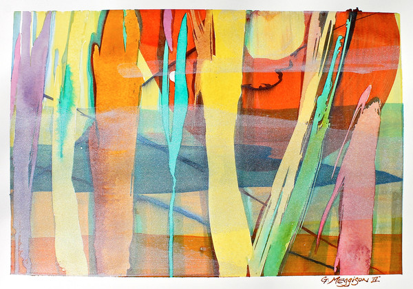 Currents of Culture | Contemporary Abstract Watercolors | Gordon Meggison IV