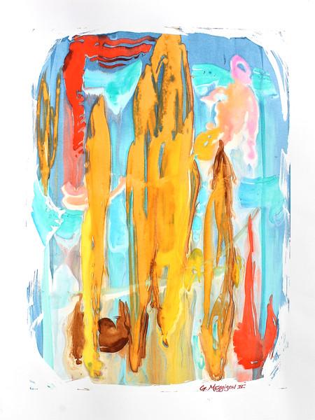 Icarus | Abstract Watercolors | Gordon Meggison IV
