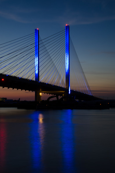 Indian River Bridge 2 Night Photo Wall Art by Nature photographer Melissa Fague
