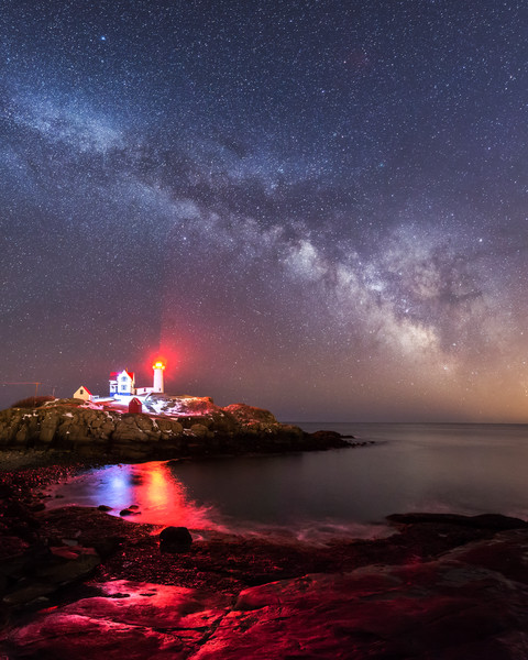 Milky Way Over Nubble Light