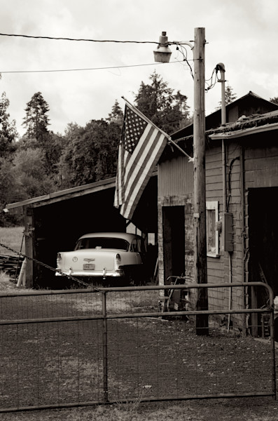 American Flag and Chevy