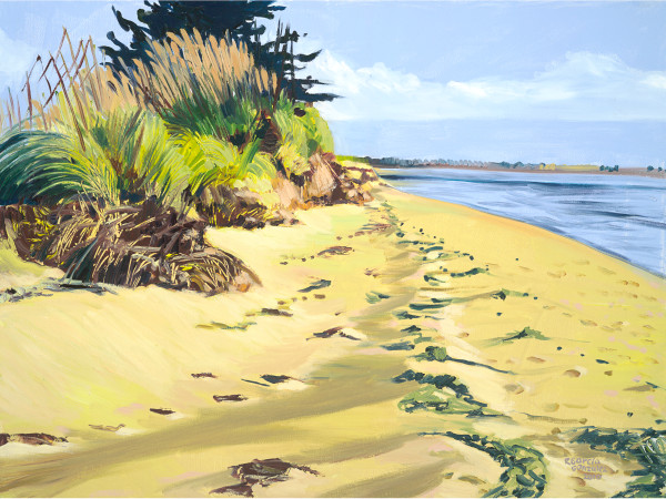 Alameda, painting, landscape, beach, art