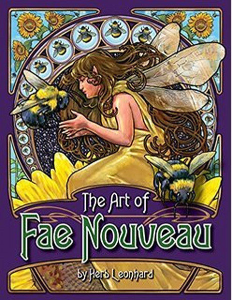 The art of Fae Nouveau, art nouveau, herb leonhard art, herb leonhard