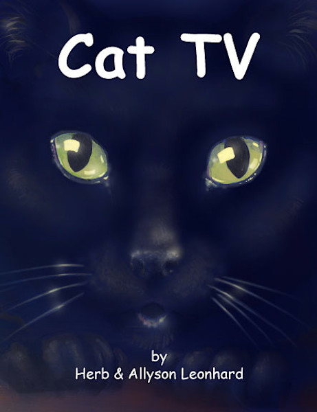 Cat TV, Cat book, Childrens BOOK, Illustrated by Herb Leonhard