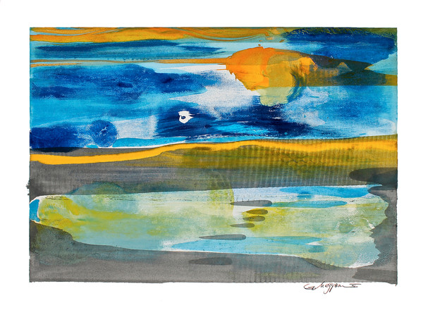 Moonlight and Karma | Oil and Water Monoprints | Gordon Meggison IV