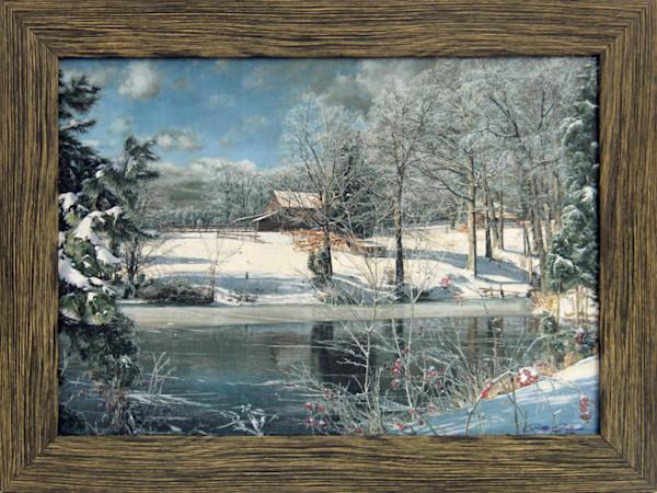 Whitaker's Pond Enhanced Canvas Transfer Art Print for Sale