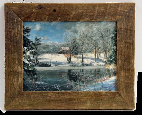 Whitakers Pond Mini Enhanced Canvas Transfer Mini Art Print Framed for Sale