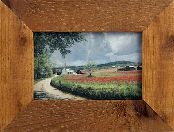 Thunder Mountain Poppies Micro Mini Art Print Framed For Sale