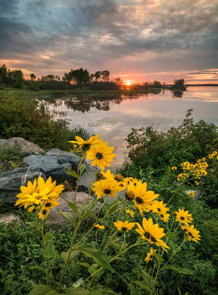 Sunrise along Duluth's St. Louis River