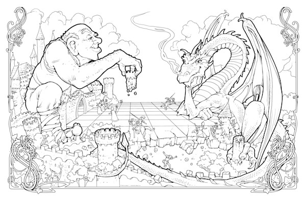 Dragon Chess - Color Your Own