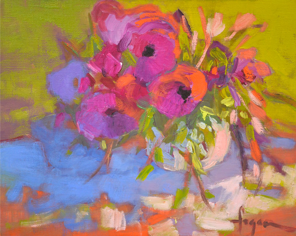 Blooming | Colorful Floral Painting Dorothy Fagan Collection