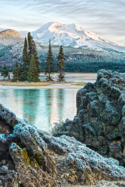 Volcanic Frost (131051LND8) Sparks Lake-South Sister Mountain Photograph for Sale as Fine Art Print