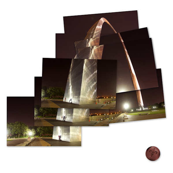 St Louis Arch Collage