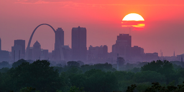 St Louis Skyline at Sunset
