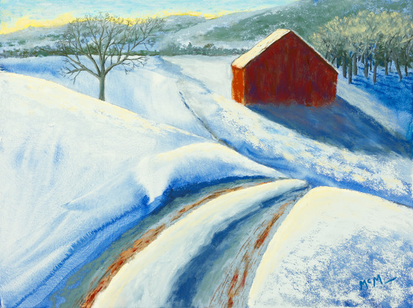 Ozark Barn, Winter Blues