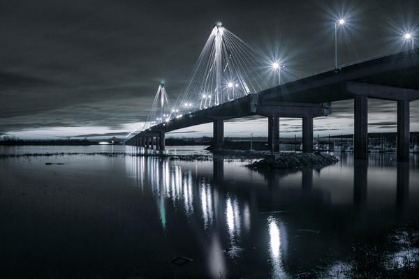 Clark Bridge at Alton IL, Monochrome