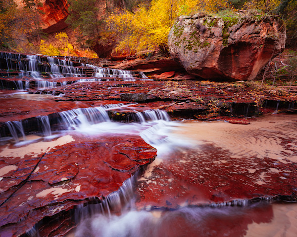 Arch Angel Falls in Autumn