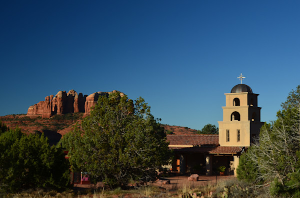 Church and Red Rocks of Sedona