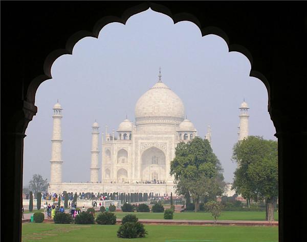 Taj Mahal Framed In