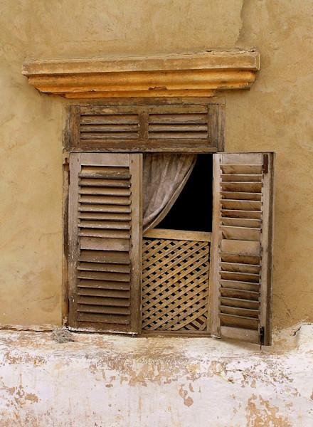 Shuttered Window in Ghana