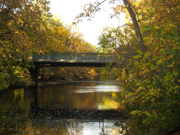 Mulberry Bridge in Autumn at Oakdale Park-- Salina, Kansas