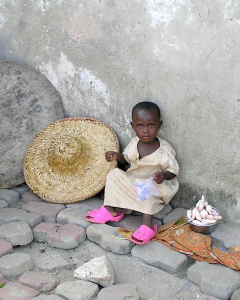 Girl in Pink Shoes--Ghana