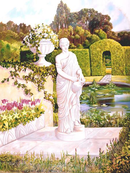 English Garden 1 | Murals in Classical Style | Gordon Meggison IV