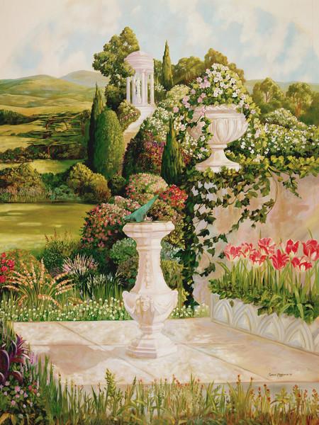 English Garden 3 | Murals in Classical Style | Gordon Meggison IV