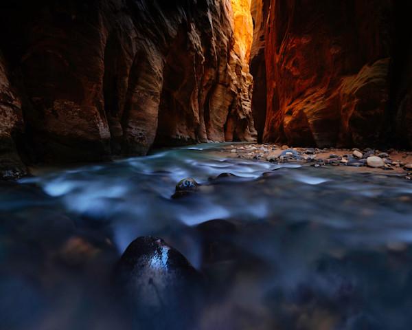 Dark Glowing Passage