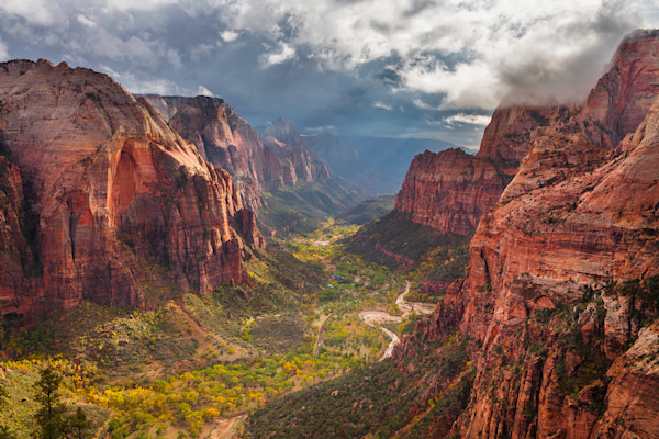 Storm Breaking in Zion Canyon