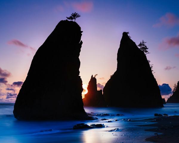 Glow Through Sea Stacks