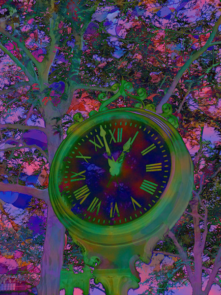 Artist Paula Ogier's Harvard clock image is a classic, updated in contemporary colors and design.